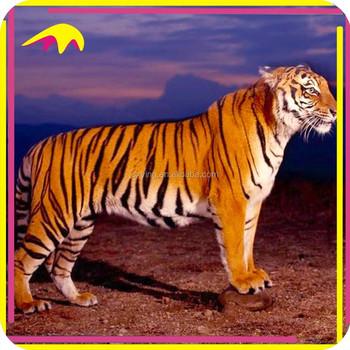 Kano a grandezza naturale realistico tiger robot animale per