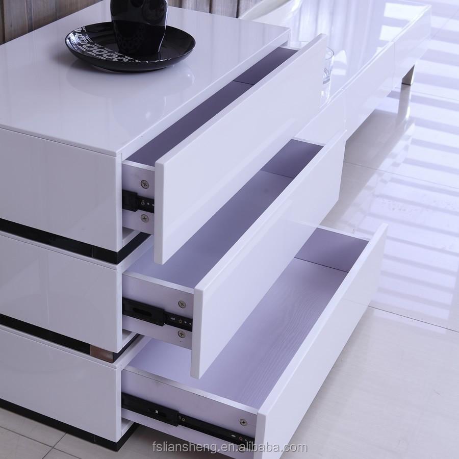 woonkamer meubels hdf witte hoogglans kast met lades-woonkamer ...