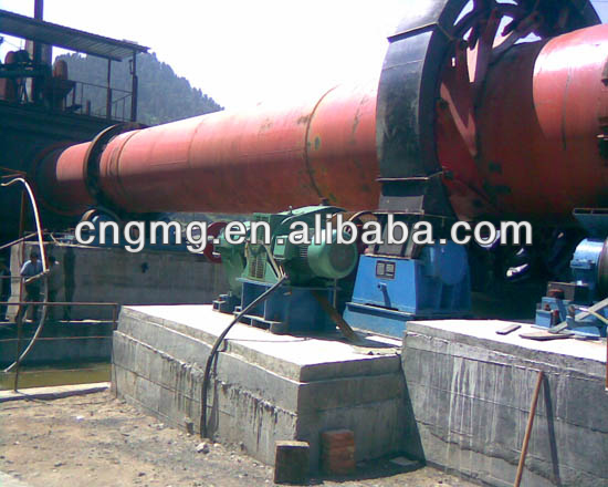 100tpd rotary kiln for calcined dolomite, gypsum, iron, lime,