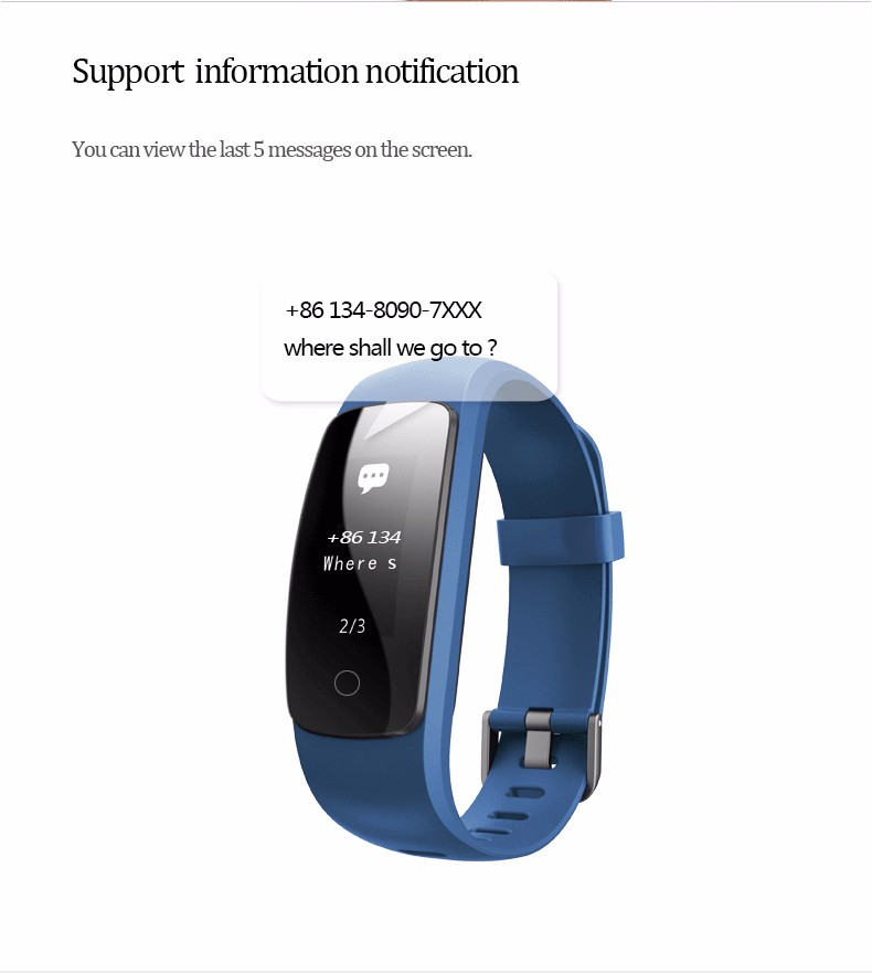 ID107 Plus HR Smart Bracelet With Heart Rate Support Multiple Sport Mode Weather Alert Call Alert And Hang Up