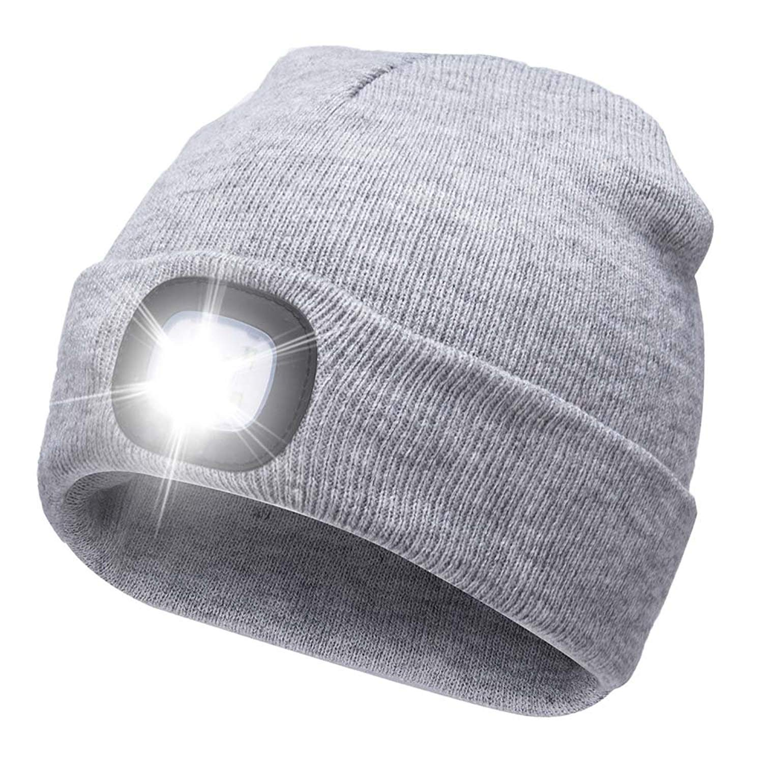 b52022a8 Get Quotations · Ultra Bright LED Unisex Lighted Beanie Cap/Winter Warm hat  (USB charging)