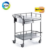 IN-677 In Acciaio Inox <span class=keywords><strong>Ospedale</strong></span> Apparecchi <span class=keywords><strong>Strumento</strong></span> Carrello 2 Cassetto Trolley