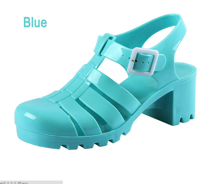 c18e2573af0a Get Quotations · Fashion wedge platform women jelly sandals trend gladiator jelly  sandal shoes female Romen high heel open