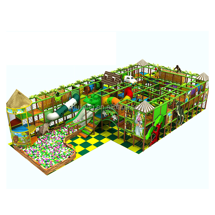 animal zoo theme indoor children's park with playing games