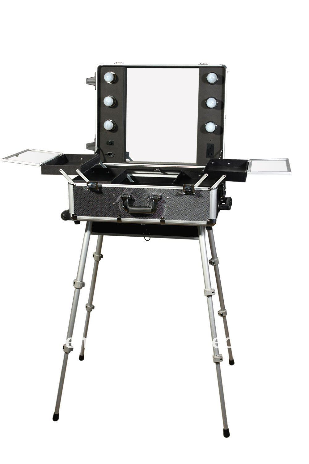 100%Quality Guarantee, Portable Makeup Station,LED lighted