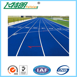 Spray Coat System Athletic Rubber Track Flooring Synthetic Run Track Mat