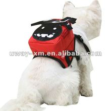 UW-PBP-004 2012 Halloween wacky monster style,red nylon fabric pet backpack bag for dogs,pet travel shoulder bag