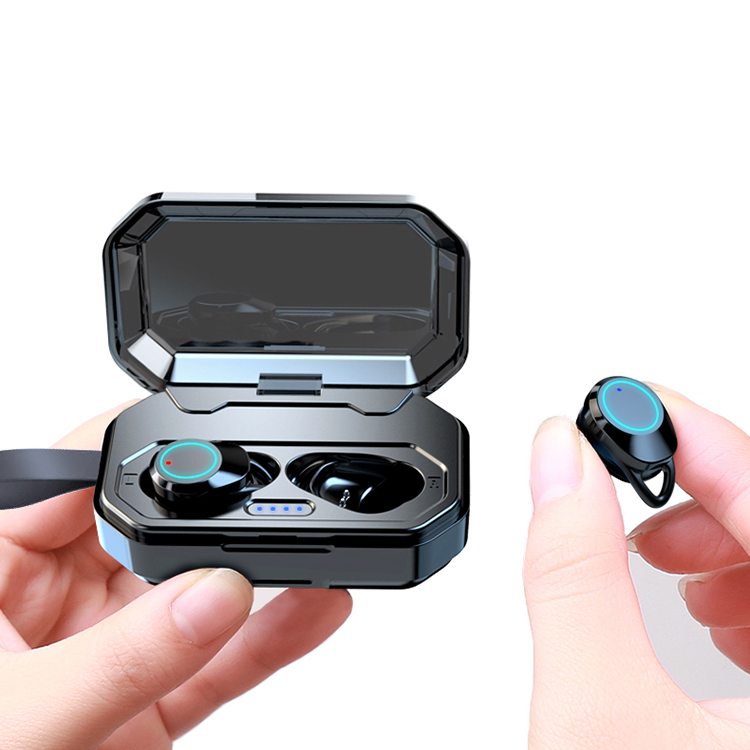 2019 new products rechargeable IPx6 waterproof BT 5.0 wireless earbuds фото
