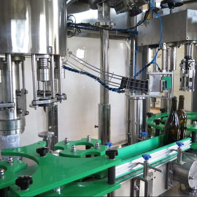 3in1 automatische alkohol bottling maschine