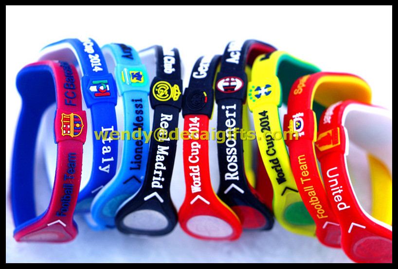 fitness sports silicone bracelet rfid silicone wristbands wholesale men's accessories silicone products
