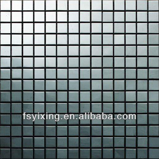 In acciaio inox piastrelle di mosaico per parete interna - Isolare parete interna a nord ...