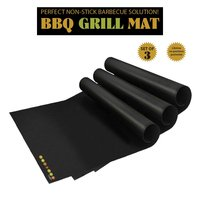 Amazon Wholesale Barbecue Utensil For Gas,Charcoal,Electric Grill Accessories - Set Of 2 Non-stick Bbq Grill Mats