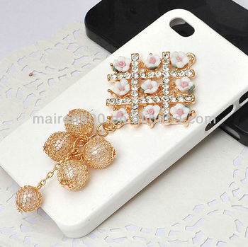 Roses Tassels Ball Diy Mobile Phone Case Accessories Decorations