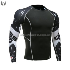 Bjj design your own custom printed rash guard manufacturer