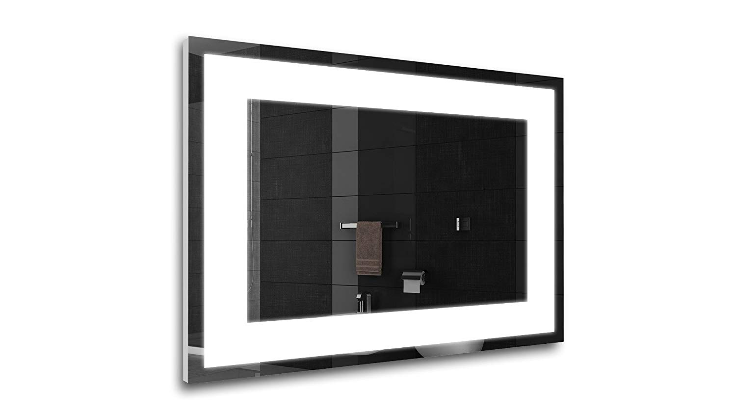 Tilebay LLC Salin Led Lighted Mirror | Bathroom Mirror | Led Make-up Mirror | 3 Switch Types Available (31x23, Remote Control)