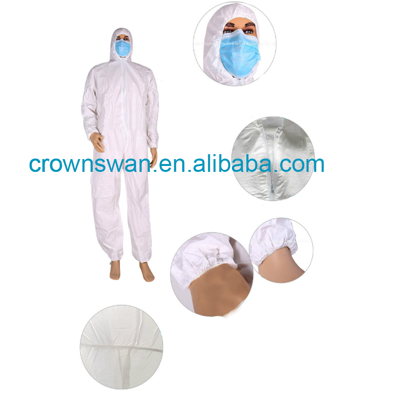 Zipper Overalls And Coveralls Paint Apparel With Cheapest Price Factory in Henan Crown Swan