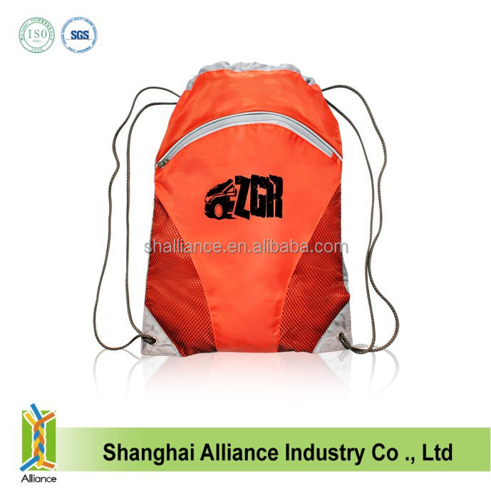 Waterproof String Bags Drawstring Backpack Tote School Bag Bookbags Sport Pack