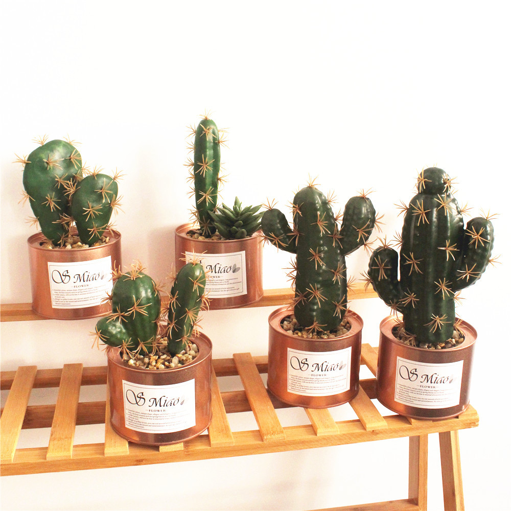 Metalen Tin Potten Amazon Hot Verkoop Kunstmatige Ingemaakte Succulent Mini Vetplanten Voor Huis Decoratie