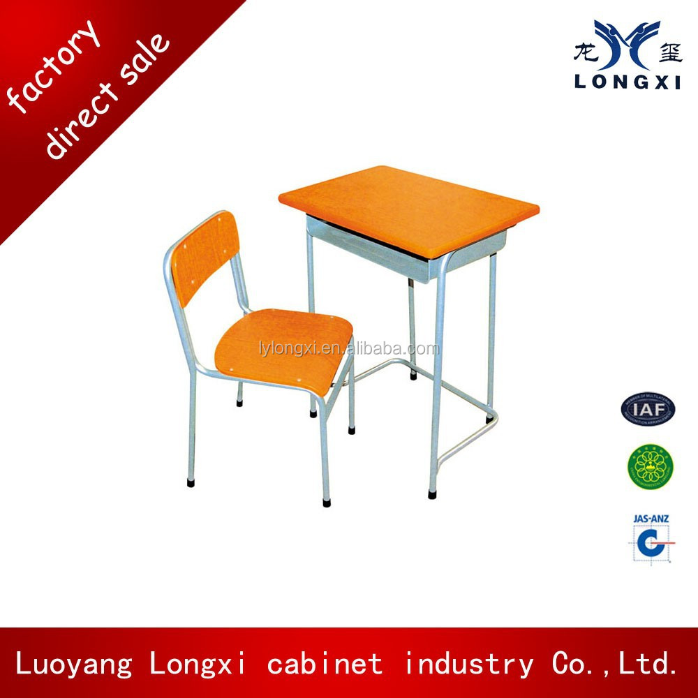 High quality with competive price single student desk and chair school sets, school furniture