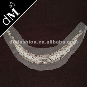 wholesale pearl handmade beaded collar clothing embellishment SNL0034