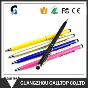 Colorful 2 in1 Touch Screen Stylus Ballpoint Pen for iPad iPhone Samsung Tablet