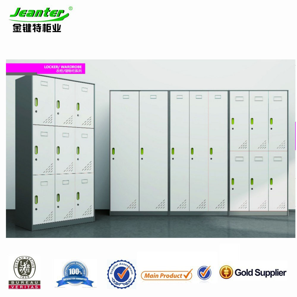 2014 Hot Sell Chinese Manufacturer Modern 15 Door Grey Color Cold-rolled Steel Sheet Metal Office Furniture/Locker