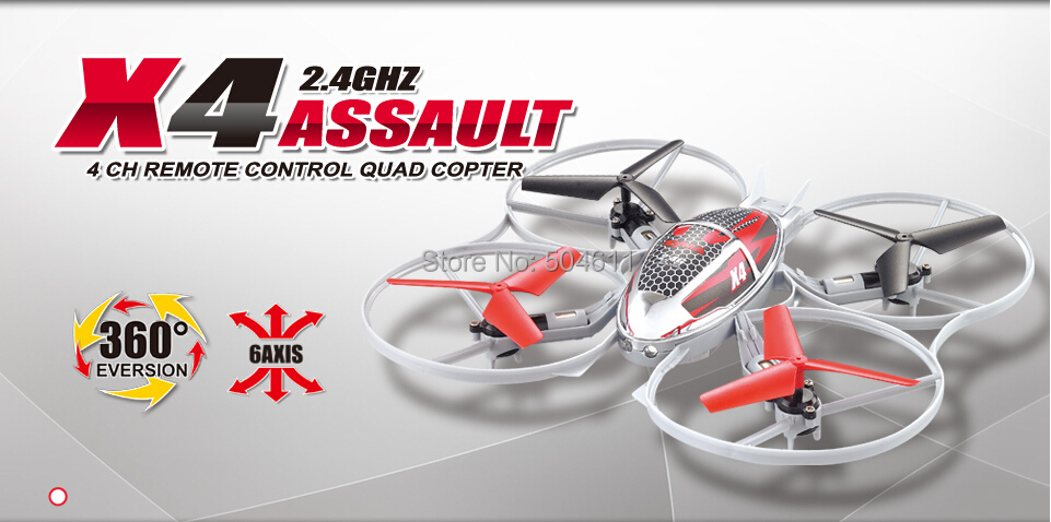 Syma X4 4CH 2.4Ghz 6AXIS Throw Flight RC Remote Control Quad Copter 2 Mode 360