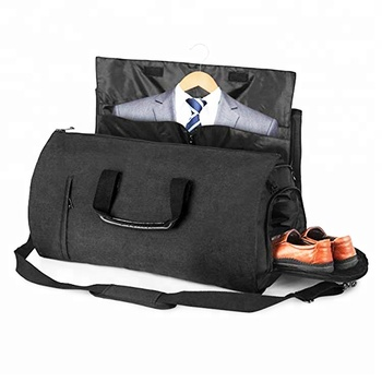 Custom Travel Carry On Suit Bag 2 In 1 Zip Garment Foldable With Shoe
