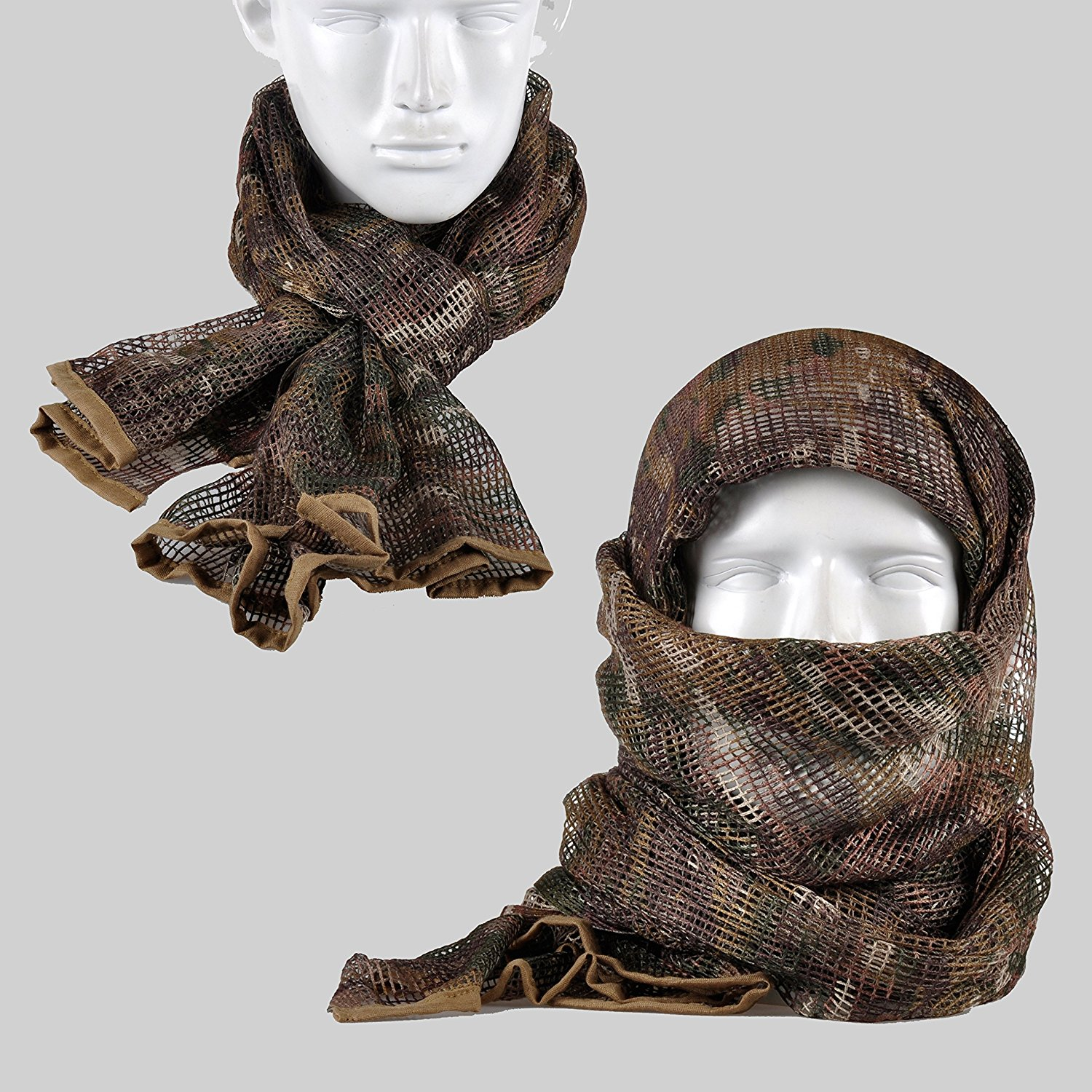 Multicam Pattern Camouflage Camo Army Mesh Breathable Scarf Wrap Mask  Shemagh Veil 0e80faebf3d2