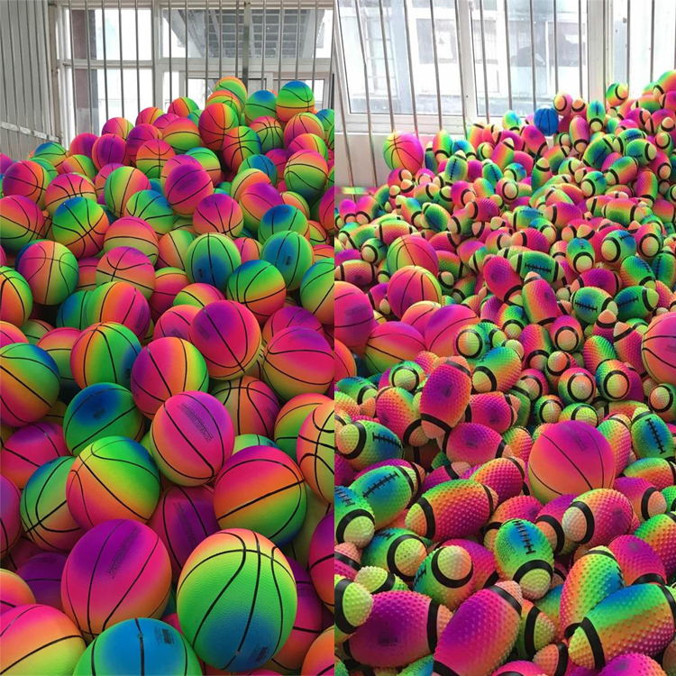 8.5 Inch PVC rainbow playground ball for kids