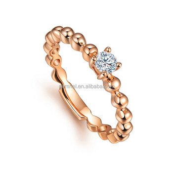 14kt Rose Gold Jewellery Bead Cz Diamond Wedding Ring Philippines