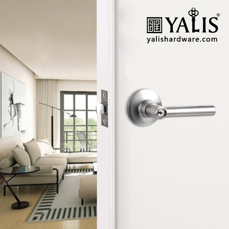 Cerraduras para puertas puerta interior mango uso pomo palanca de bloqueo de tama o medio - Cerraduras pomo para puertas ...