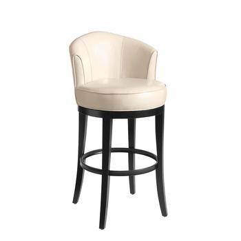 Phenomenal White Leather Round Shape Bar Stool Chair Buy White Stool Leather Bar Stool Round Shape Chair Product On Alibaba Com Machost Co Dining Chair Design Ideas Machostcouk