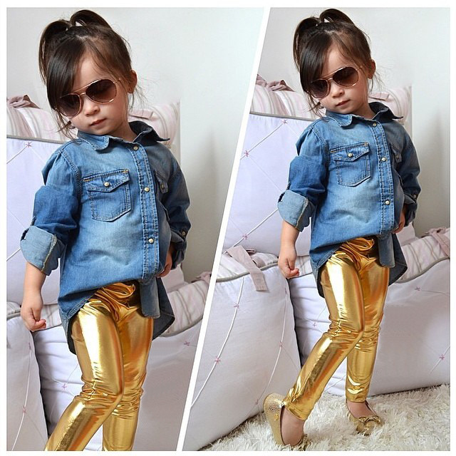 a5f50489e35d0 Detail Feedback Questions about Baby Children Clothing Fashion Trend Baby  Kids Girls Pants Shiny Solid Skinny Leggings Pants Trousers 1 9Y Meryl  Coated ...