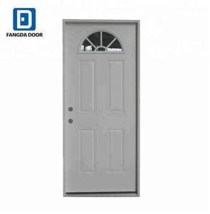 Fangda high quality half moon steel door window insert