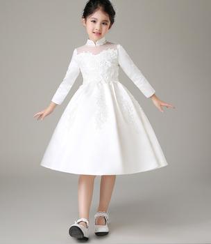 Children flower girl dress long sleeve formal pattern dress - kids ...