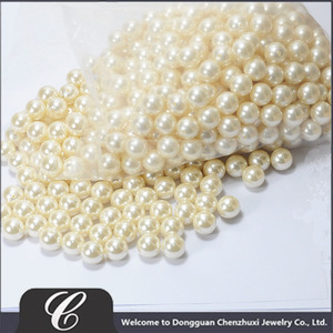 16MM PEARLS HALF DRILLED IN LIGHT YELLOW COLOUR IN BULK