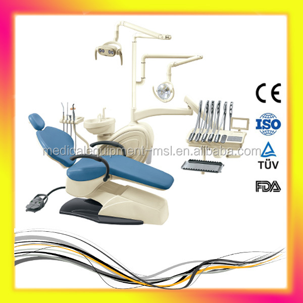 Made in China Dental Chair Unit With CE&FDA /Whole Set Dental Chair With Square operation lamp