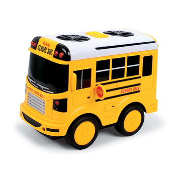 Happy yellow plastic friction school bus toys for kids