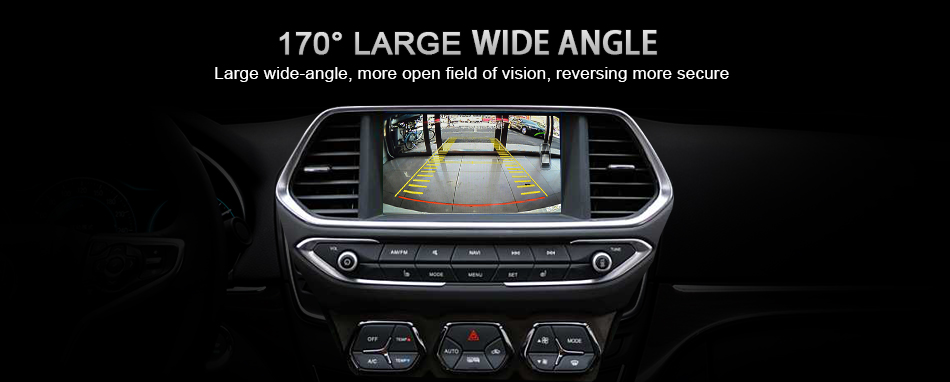 Wireless Wifi Rear View Reversing Car Backup black HD Camera With 4 Night Vision LED Lights