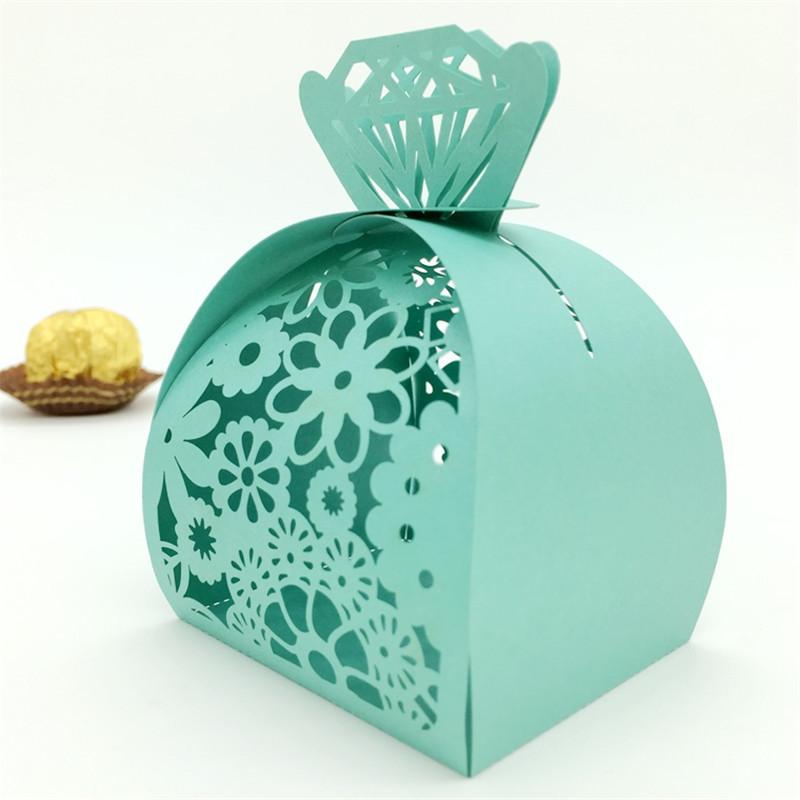 Buy 120PC Diamond Laser Cut Vine Flower Gift Candy Boxes Souvenirs ...