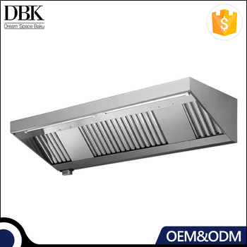 Commercial portable stainless steel kitchen exhaust canopy range hood
