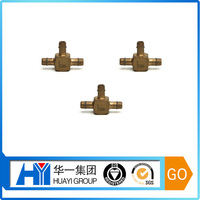 Customed CNC Three Links Connector 3 direction elbow pipe fitting plumbing parts