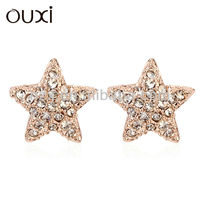 OUXI 2015 fashion wholesale ear piercing studs made with Austria Crystal 20488