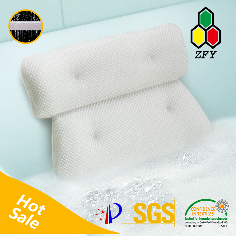 Hot sell 6d spacer mesh fabric for white spa bath pillow