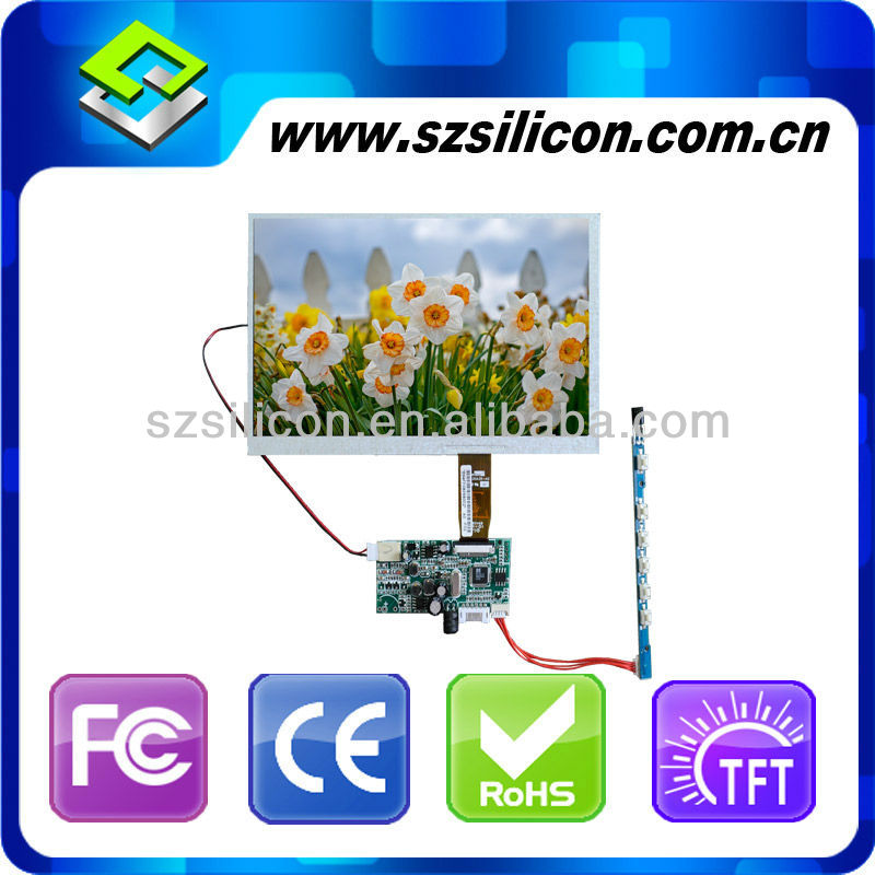 hot led backlight 3.5 inch TFT LCD Car Monitor Control Board