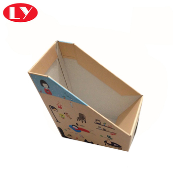 high quality cardboard corrugated paper file holder box office usage paper file box