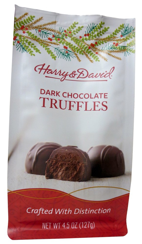 Harry & David Dark Chocolate Truffles Holiday Bag