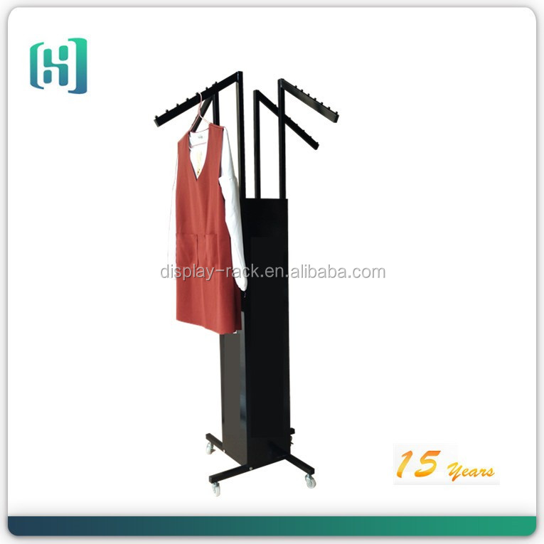 custom hot sales metal four sides hanging clothes display rack