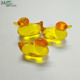 Transparent duck shaped 2.6g bath oil pearls for thanksgiving day wedding party gift